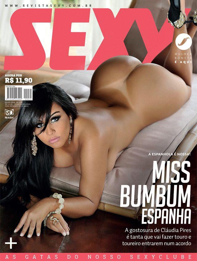 Claudia Pires Nua :: Revista Sexy Julho 2016