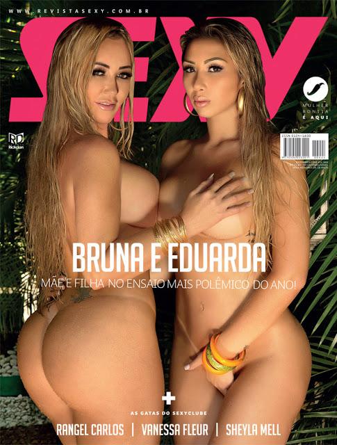 Revista Sexy Dezembro 2016 – Bruna e Eduarda (Mãe e Filha)